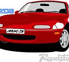 Mazda MX5 red by car2oonz