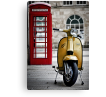 Yellow Lambretta GP Canvas Print