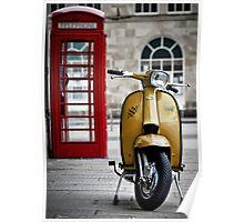 Yellow Lambretta GP Poster