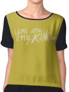 You Are My King x Mustard Chiffon Top