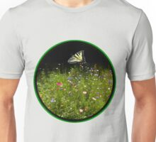 Wildflowers and Swallowtail Butterfly Unisex T-Shirt