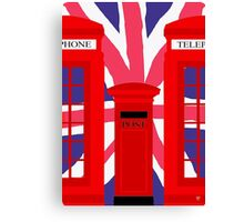 LONDON TELEPHONE BOX and POST BOX Canvas Print