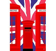 LONDON TELEPHONE BOX and POST BOX Photographic Print
