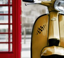 Yellow Lambretta GP Sticker