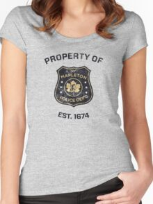 Property of Mapleton Police Dept. - The Leftovers Women's Fitted Scoop T-Shirt