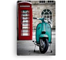 Turquoise Lambretta GP Canvas Print