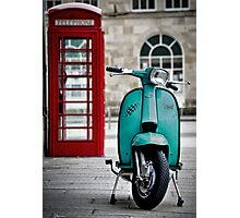 Turquoise Lambretta GP Photographic Print
