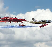 Reds Arrows with XH558 by J Biggadike