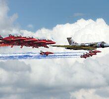 Reds Arrows with XH558 by J Biggadike
