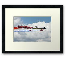 Reds Arrows with XH558 Framed Print