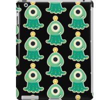 Cute monster pattern,black,green,yellow,kid,kids,fun,children iPad Case/Skin