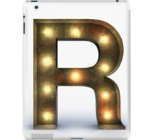 R letter alphabet marquee light iPad Case/Skin