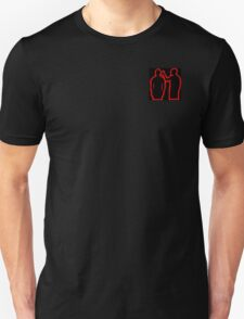 red and black guns for hands silhouette  Unisex T-Shirt