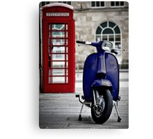 Italian Blue Lambretta GP Scooter Canvas Print