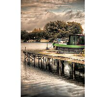 Narrow Boat and Jetty HDR  Photographic Print