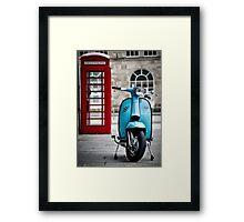 Italian Light Blue Lambretta GP Scooter Framed Print