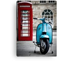 Italian Light Blue Lambretta GP Scooter Canvas Print