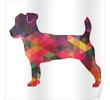 Jack Russell Terrier - Colorful Geometric Pattern - Multi Poster