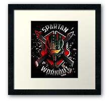 Spartan Workout Framed Print