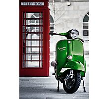 Italian Green Vespa Rally 200 Scooter Photographic Print