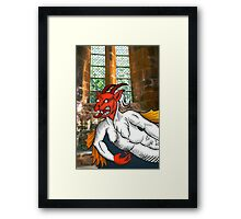 Gothic Grotesque Devil Framed Print
