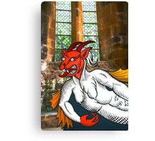 Gothic Grotesque Devil Canvas Print