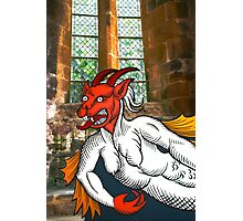 Gothic Grotesque Devil Photographic Print
