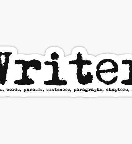 Writer Sticker