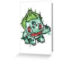 #001 Bulbasaur Illustration Greeting Card