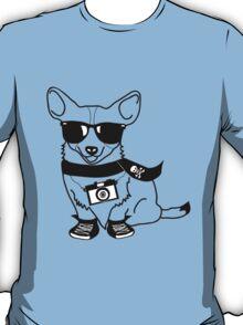 Hipster Corgi - Cute Dog Cartoon Character - Corgis Rule T-Shirt
