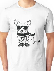 Hipster Corgi - Cute Dog Cartoon Character - Corgis Rule Unisex T-Shirt