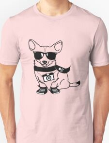 Hipster Corgi - Cute Dog Cartoon Character - Corgis Rule T-Shirt