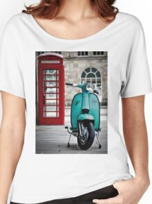 Turquoise Lambretta GP Women's Relaxed Fit T-Shirt