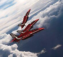 Red Arrows Trio by J Biggadike