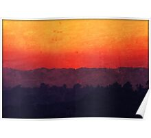 Five Shades of Sunset Painting Poster