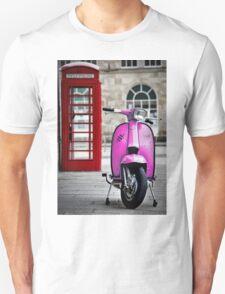 Italian Pink Lambretta GP Scooter Unisex T-Shirt