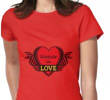 Forever in love (Heart, 3C) Womens Fitted T-Shirt
