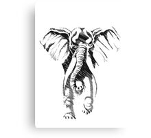 pencil sketch elephant Canvas Print