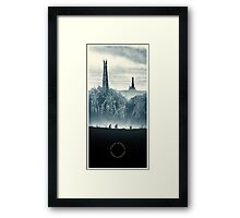 Lord of the Rings - Ring Design Blue Framed Print