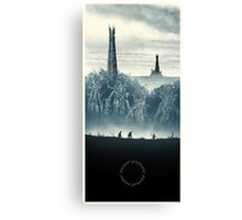 Lord of the Rings - Ring Design Blue Canvas Print