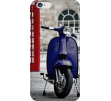 Italian Blue Lambretta GP Scooter iPhone Case/Skin