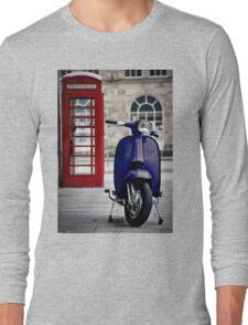Italian Blue Lambretta GP Scooter Long Sleeve T-Shirt