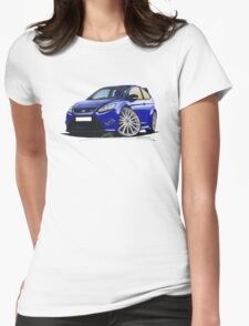 Ford Focus RS (Mk2) Blue Womens Fitted T-Shirt