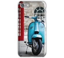 Italian Light Blue Lambretta GP Scooter iPhone Case/Skin