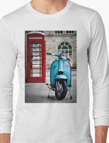 Italian Light Blue Lambretta GP Scooter Long Sleeve T-Shirt