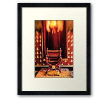 The throne room Framed Print