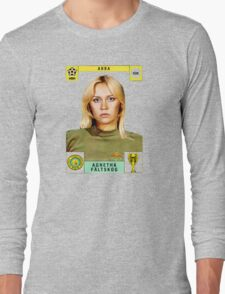 Agnetha Faltskog from Abba retro football team design!~ Long Sleeve T-Shirt