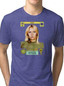 Agnetha Faltskog from Abba retro football team design!~ Tri-blend T-Shirt