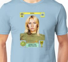 Agnetha Faltskog from Abba retro football team design!~ Unisex T-Shirt