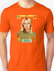 Agnetha Faltskog from Abba retro football team design!~ Unisex T-Shirt